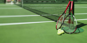students playing tennis on English language course in Cambridge